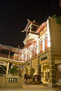 Traditional Malaysian Buildings at Night Royalty Free Stock Photo
