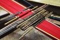 Traditional malaysian loom Stock Photo