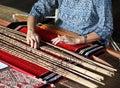 Traditional malaysian loom Royalty Free Stock Photography