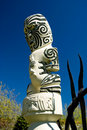 Traditional Maori Carved Figure Stock Photos