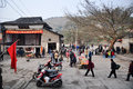 The traditional market in china chinese people are always like to stroll ancient rural areas taken on chongqing of Royalty Free Stock Image