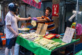 Traditional market in New Taipei City Royalty Free Stock Photo