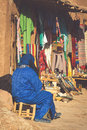 A traditional market in the old city of Essaouira, Morocco Royalty Free Stock Photo