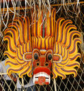 Traditional mask of the devil Royalty Free Stock Photo