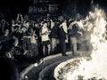 Traditional Mayan fire ritual - Tikal, Guatemala Royalty Free Stock Photo
