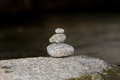 Traditional meditation zen stones design structure Stock Photography
