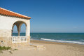 Traditional mediterranean architecture idyllic ocean front house Royalty Free Stock Images
