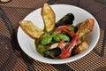 Traditional mediterranean fish soup - zuppa di pesce