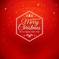 Traditional merry christmas and happy new year card typographic label for xmas holidays design vector illustration Stock Photo
