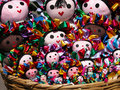 Traditional mexican dolls colorful rag Royalty Free Stock Photography