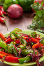Traditional Mexican fajita peppers Royalty Free Stock Photo