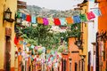 Traditional mexican paper for decoration in streets in Mexico Royalty Free Stock Photo