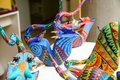 Traditional mexican symbolic toy called alebrije from Oaxaca, Me Royalty Free Stock Photo