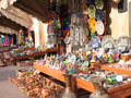 Traditional moroccan market with artwork Royalty Free Stock Photos