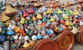 Traditional moroccan souvenir market Royalty Free Stock Photo