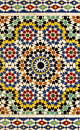 Traditional Moroccan tile pattern Stock Photography