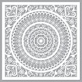 Traditional Moroccan vector openwork mandala design inspired by the old carved wood wall art patterns from Morocco Royalty Free Stock Photo