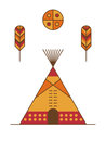 Traditional native american tipi