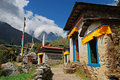 Traditional Nepal village Stock Photography