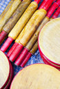 Traditional Nepalese Wooden Kitchen Utensils Stock Image