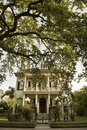 Traditional New Orleans house in Garden district s Royalty Free Stock Photo