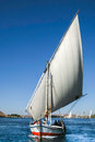 Traditional Nile Felucca Royalty Free Stock Photo