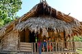 Traditional nishi hut a at the village of arunachal pradesh Royalty Free Stock Images