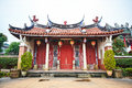 Traditional oriental temple with beautiful decoration in Taiwan