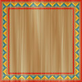 Traditional ornament painted on wooden board Stock Images