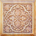 Traditional ornament on wood products Royalty Free Stock Photo