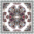 Traditional Ornamental Floral Paisley Bandana Royalty Free Stock Photo