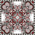 Traditional ornamental floral paisley bandanna you can use this pattern in the design of carpet shawl pillow cushion Royalty Free Stock Images