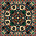 Traditional ornamental floral paisley bandanna you can use this pattern in the design of carpet shawl pillow cushion Stock Image