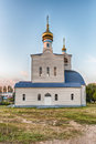 Traditional orthodox church in frunze small village in crimea the saky region of Royalty Free Stock Photo