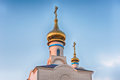 Traditional orthodox church in frunze small village in crimea the saky region of Royalty Free Stock Photography