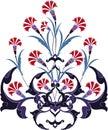 Traditional ottoman turkey turkish tulip design Stock Photo