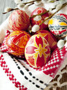 Traditional Painted Easter Eggs Royalty Free Stock Photo