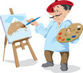 Traditional painter drawing of a Stock Photos