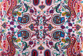 Traditional paisley pattern silk headscarf sample eastern cloth presents and gifts concept Royalty Free Stock Photos