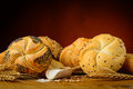 Traditional pastries still life with and ingredients Stock Photos