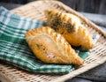 Traditional pasty kibin karaite similar to cornish pasties Stock Photo