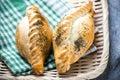 Traditional pasty kibin karaite similar to cornish pasties Royalty Free Stock Photo