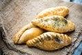 Traditional pasty kibin karaite similar to cornish pasties Stock Image