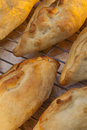Traditional pasty a pastie or british is a baked pastry a variety of which is particularly associated with cornwall the Royalty Free Stock Photo