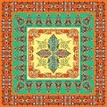 Traditional pattern with oriental elements. Classic vintage pattern. Ethnic fabric print. Ornamental background. Scarf design. - I