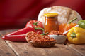 Traditional pepper relish from the Balkans Stock Photography