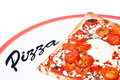 Traditional pizza margherita true italian Stock Images