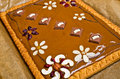 Traditional polish butterscotch cake mazurek Stock Images