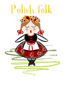 Traditional polish costume cracovie vector illustration Royalty Free Stock Photo