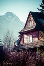 Traditional polish wooden hut from zakopane poland Royalty Free Stock Images